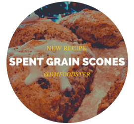 spent grain scones