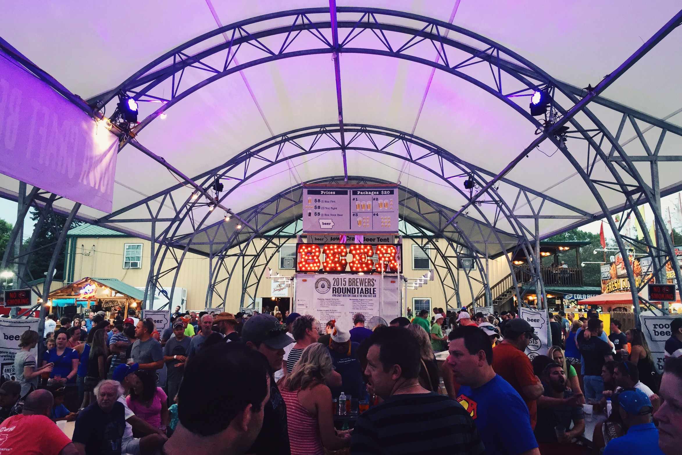 the beer tent at the Iowa State Fair u2026 & Nothing Compares - Pouring Brews at the Iowa Craft Beer Tent - Des ...