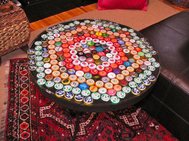 bottle cap table