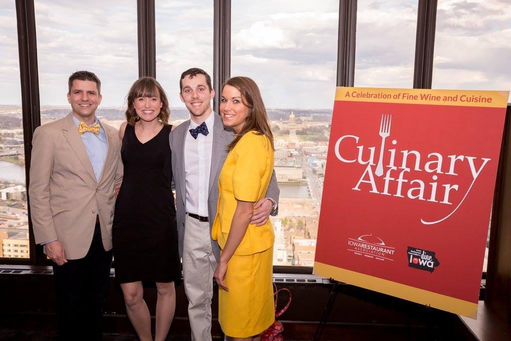 L to R: Tom (Des Moines Brewster), Missy, Anna, Nick (Des Moines Foodster)